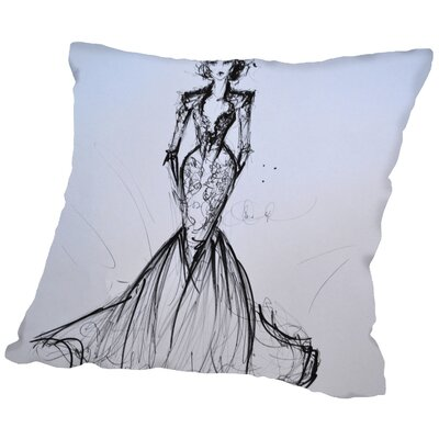 Spirit Lake Lace Gown Throw Pillow Size: 16 H x 16 W x 2 D
