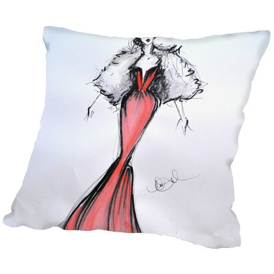 Lelia Lady Throw Pillow Size: 18 H x 18 W x 2 D