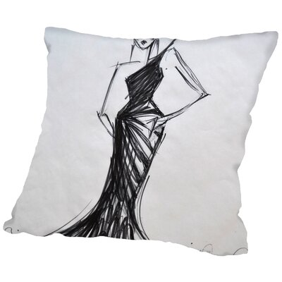 Bridget Bird of Paradise Throw Pillow Size: 20 H x 20 W x 2 D