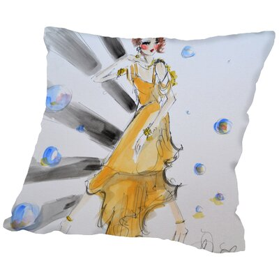 Culdesac Gatsby Gal Throw Pillow Size: 18 H x 18 W x 2 D