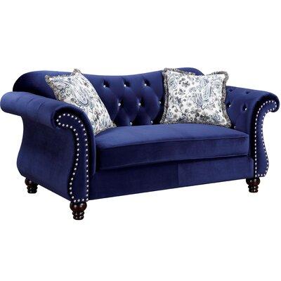 Tabitha Loveseat Upholstery: Blue