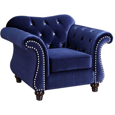 Tabitha Armchair Upholstery: Blue