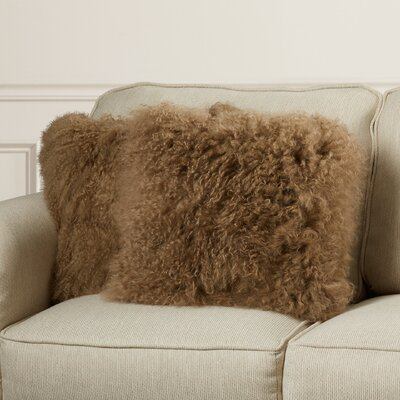 Elisha Throw Pillow Color: Natural