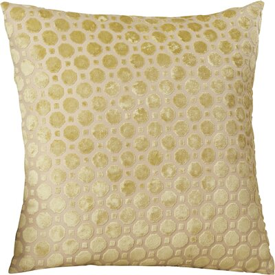Carlie Velvet Throw Pillow Color: Citrine, Size: 20 H x 20 W