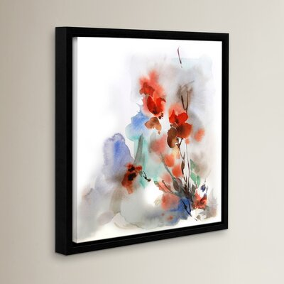 Fall Flowers Framed Painting Print Size: 10'' x 10''