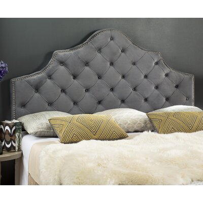 Christophe Upholstered Panel Headboard Size: King, Finish: Pewter
