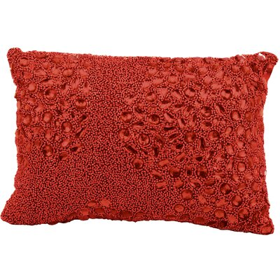 Hertzog Lumbar Pillow Color: Red