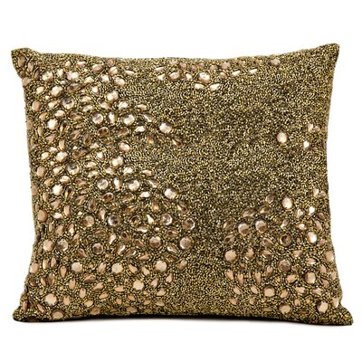 Hertzog Throw Pillow Color: Amber, Size: 16 H x 16 W