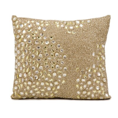 Hertzog Throw Pillow Color: Beige, Size: 16 H x 16 W