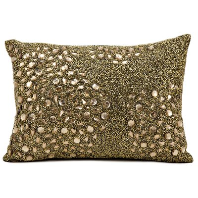 Hertzog Lumbar Pillow Color: Light Gold, Size: 10