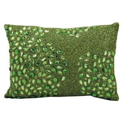 Hertzog Beaded All Over Lumbar Pillow Color: Apple Green