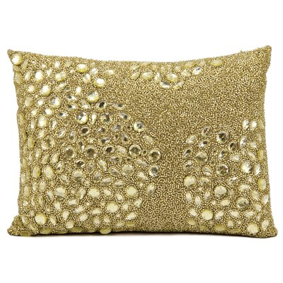Hertzog Beaded All Over Throw Pillow Color: Light Gold