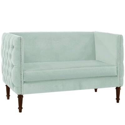 Seilles Nail Button Tufted Chesterfield Settee Upholstery: Pool