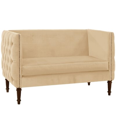 Seilles Nail Button Tufted Chesterfield Settee Upholstery: Buckwheat