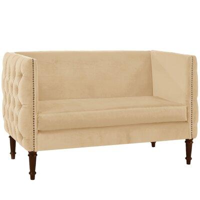 Seilles Nail Button Tufted Settee Upholstery: Buckwheat
