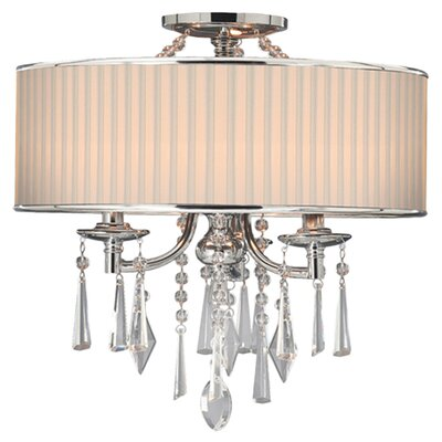 Abel 3-Light Drum Pendant Shade Color: Bridal
