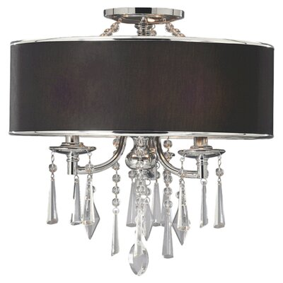Abel 3-Light Drum Pendant Shade Color: Tuxedo