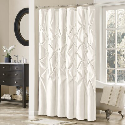 Benjamin Shower Curtain Color: White, Size: 72 H x 72 W