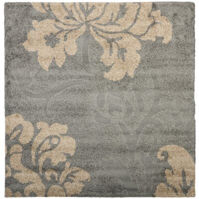 Marybell Shag Grey/Beige Area Rug Rug Size: Square 67