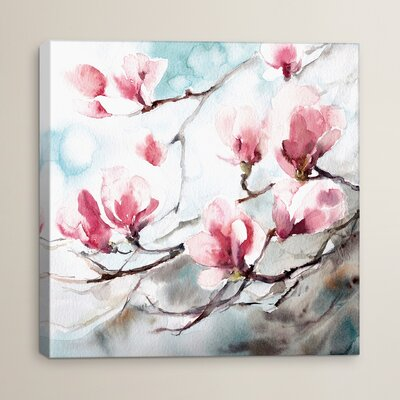 House of Hampton Magnolia Spring Painting Print on Wrapped Canvas