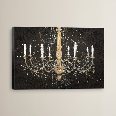 Grand Chandelier I Painting Print on Wrapped Canvas Size: 12