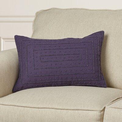 Leonide Cotton Throw Pillow Color: Violet