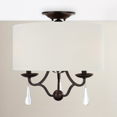 Rochefort 3-Light Semi Flush Mount