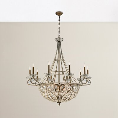 Goethe 18-Light Crystal Chandelier