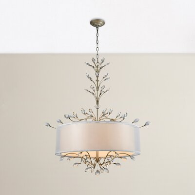 Turner 6-Light Drum Chandelier Finish: Aged Silver