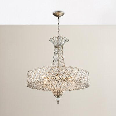 Ware 8-Light Crystal Chandelier Bulb Type: 4.8W LED