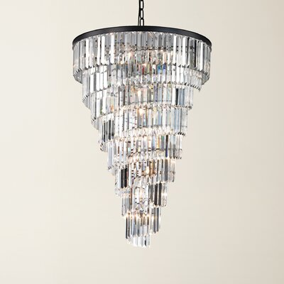 Springfield 15-Light Crystal Chandelier Bulb Type: 4.8W LED