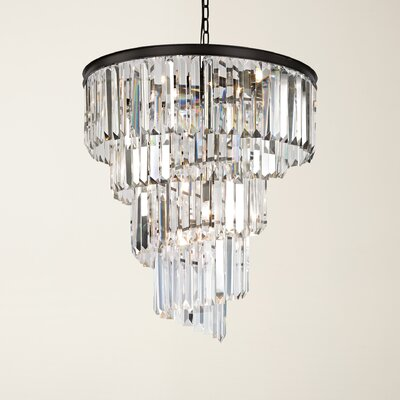 Springfield 9-Light Crystal Chandelier Bulb Type: 4.8W LED