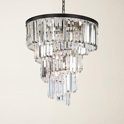 Springfield 9-Light Crystal Chandelier Bulb Type: 4.8W LED