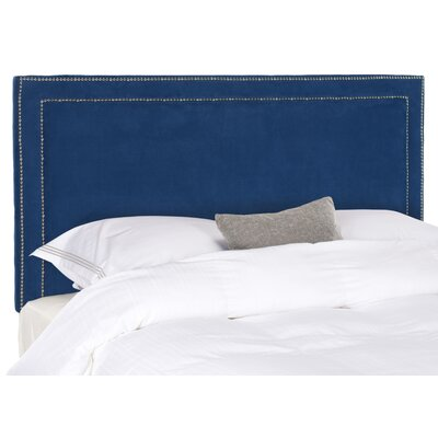 Ginger Upholstered Panel Headboard Size: Queen, Upholstery: Blue