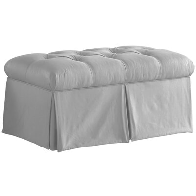 Cresta Cooper Tufted Upholstered Microdenier Storage Bench Upholstery: Silver