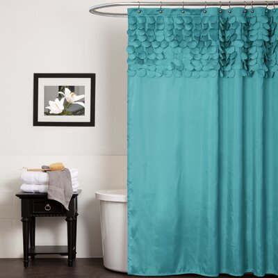 Aminu Shower Curtain Color: Turquoise