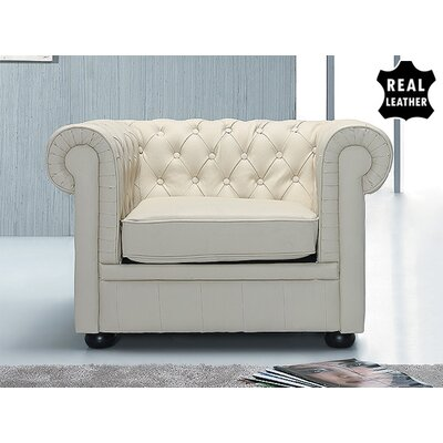 Russell Club Chair Upholstery: Beige