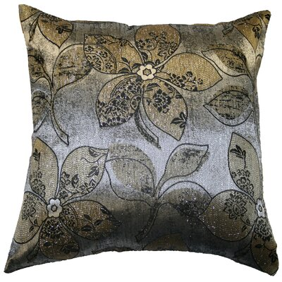 Essex Jacquard Throw Pillow Color: Gold / Silver