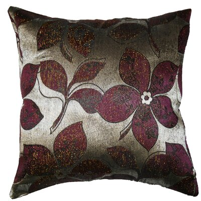 Essex Jacquard Throw Pillow Color: Brown / Silver