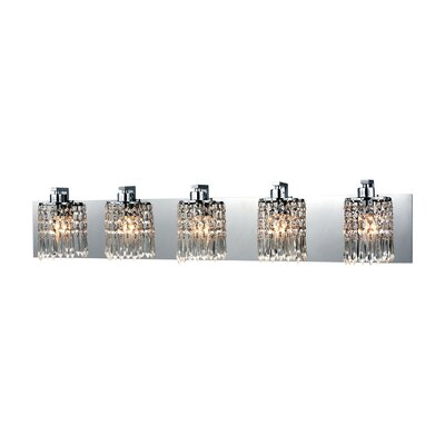 Roulers 5-Light Vanity Light Bulb Type: 60W Incandescent