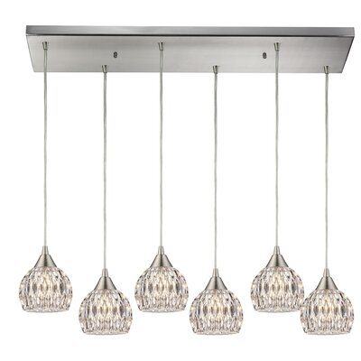 Appleton 6-Light Clear Glass Kitchen Island Pendant