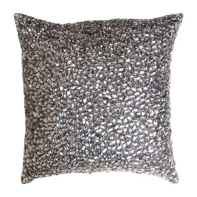 Adalwine Jewel Beads and SIlk Dupioni Lumbar Pillow Size: 10 H x 10 W, Color: Smoke