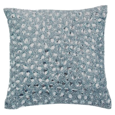 Adalwine Jewel Beads and SIlk Dupioni Lumbar Pillow Size: 10 H x 10 W, Color: Tiffany
