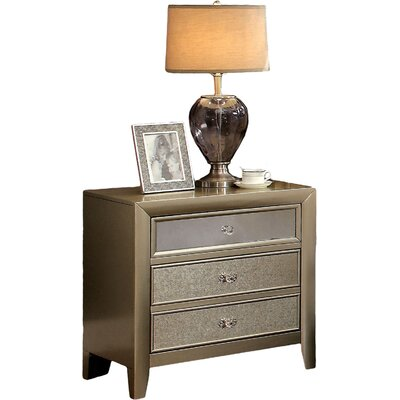 Herve 2 Drawer Nightstand