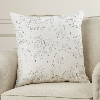Wallace Rhinestone Flowers Cotton Throw Pillow