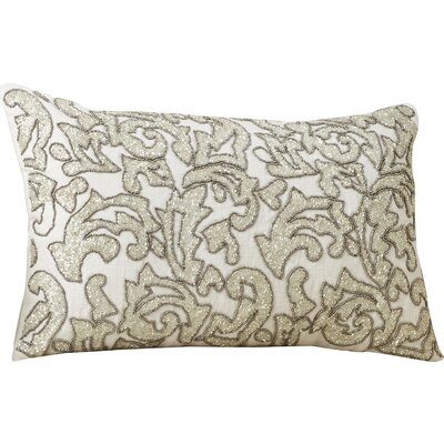 Celestiel 100% Cotton Lumbar Pillow Color: Silver