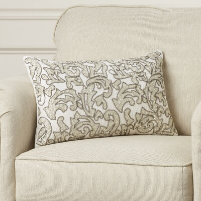 Coeur dAlene Beaded Leaves Cotton Lumbar Pillow