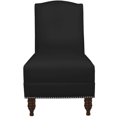 Thisnes Nail Button Side Chair Color: Black