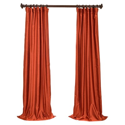 Cervandon Solid Blackout Rod Pocket Single Curtain Panel