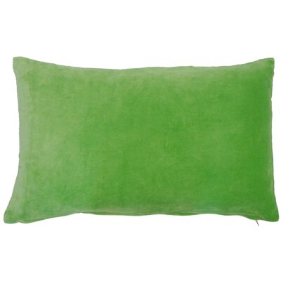 Northam Cotton Lumbar Pillow Color: Green